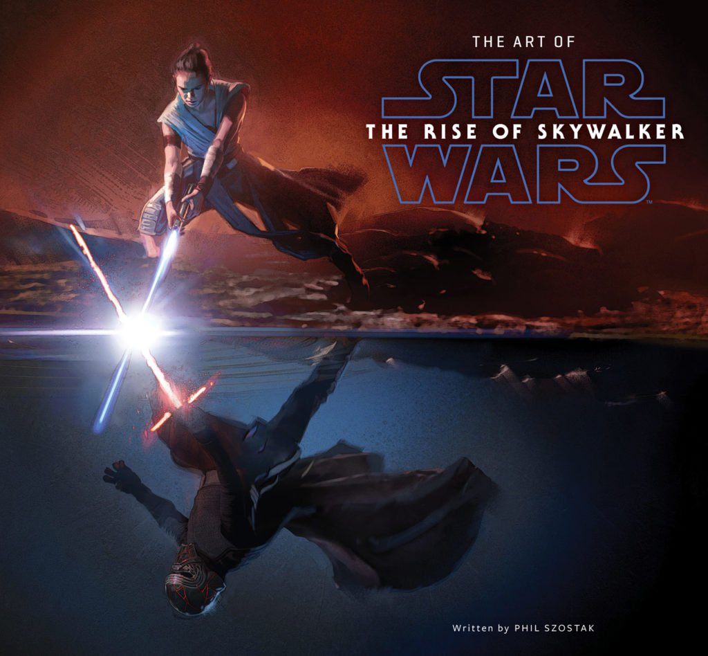 The cover for the upcoming Star Wars: The Rise of Skywalker concept art book.