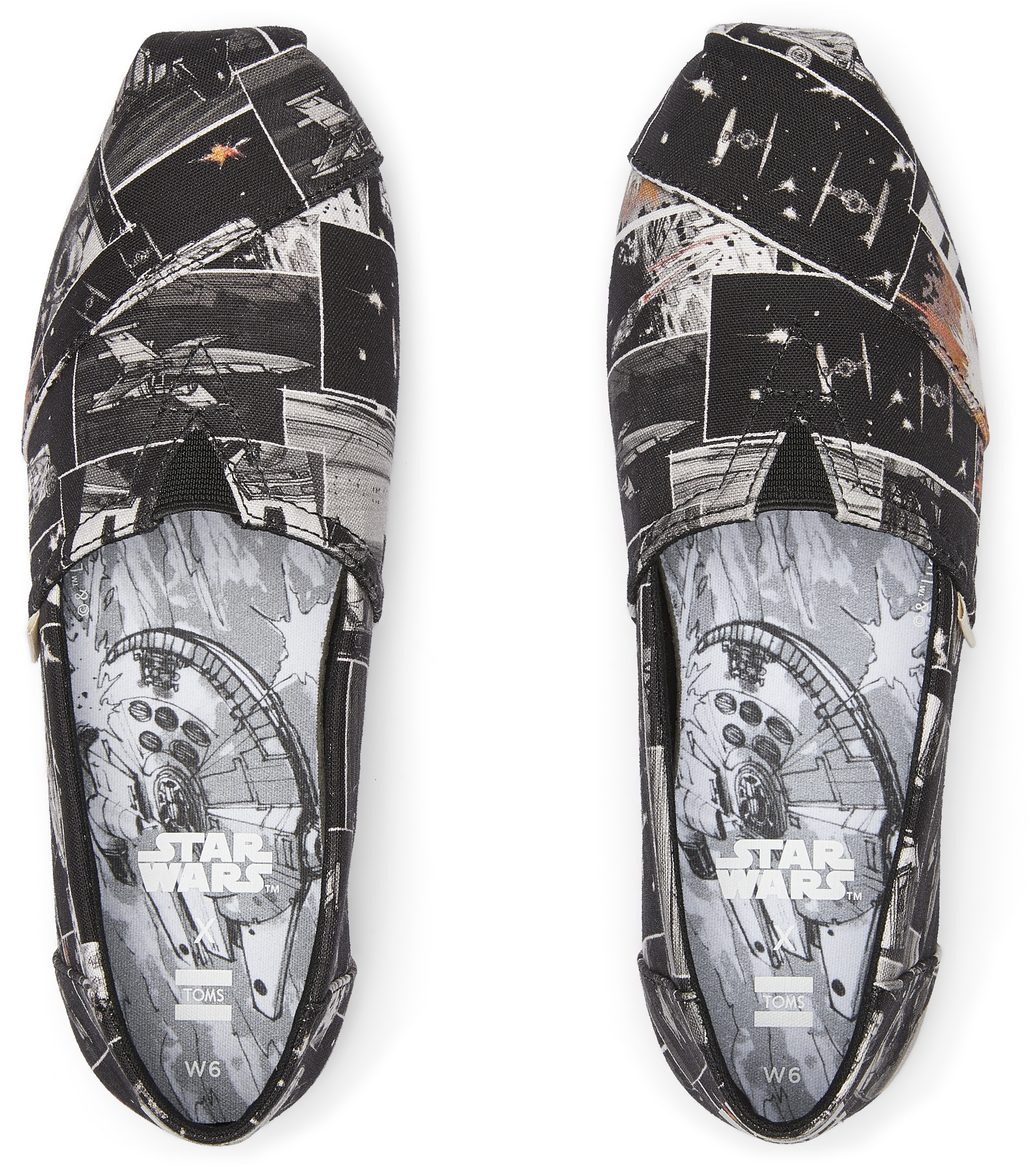 One of the new pairs of Star Wars inspired shoes by TOMS.