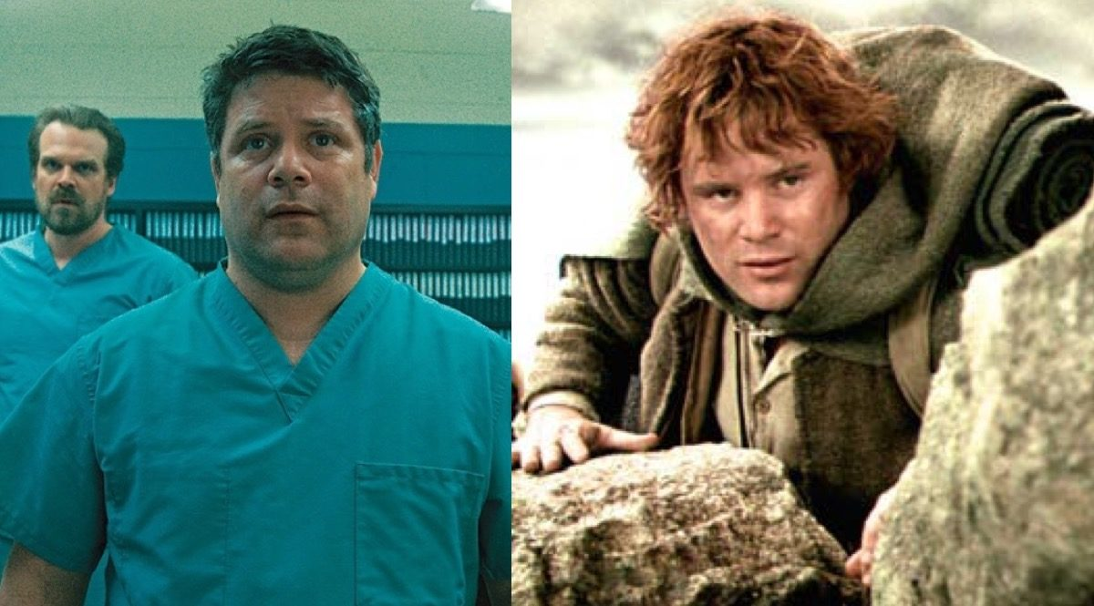 Sean Astin as Bob in Netflix's Stranger things and as Samwise Gamgee in the Lord of the Rings movies.