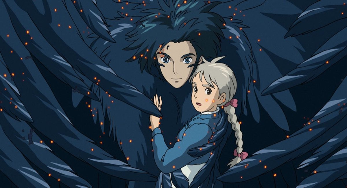 Howl and Sophie in Howl's Moving Castle.