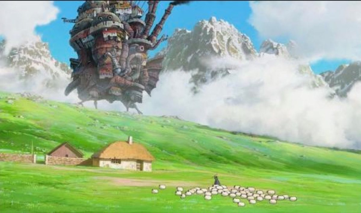 The titular castle in Howl's Moving Castle.