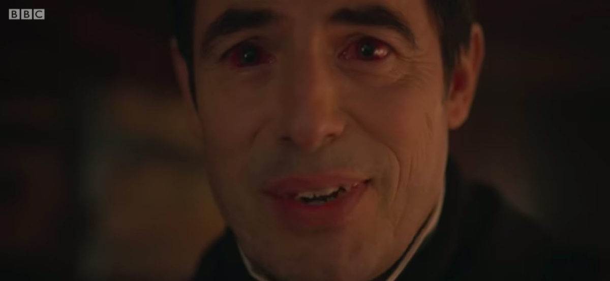 Screengrab from Moffat's Dracula