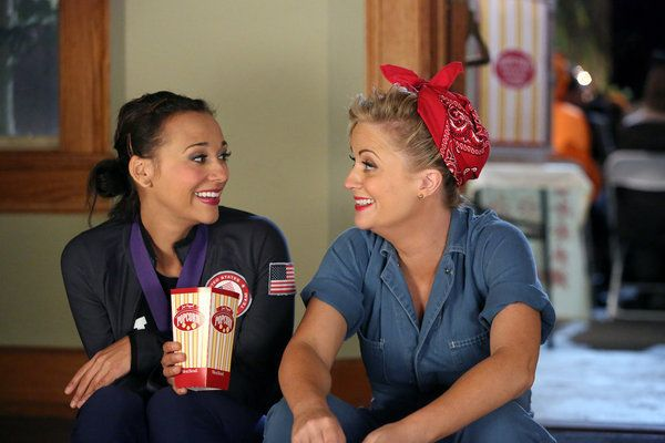 Leslie Knope and Ann Perkins in Halloween costumes
