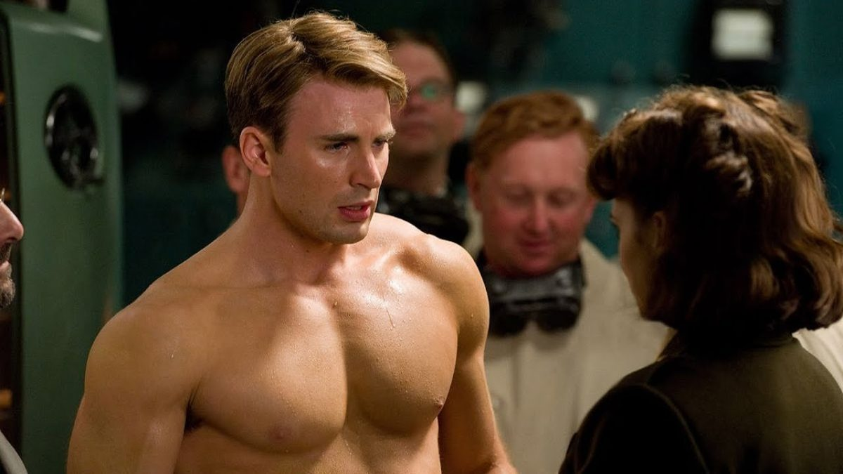Steve Rogers shirtless