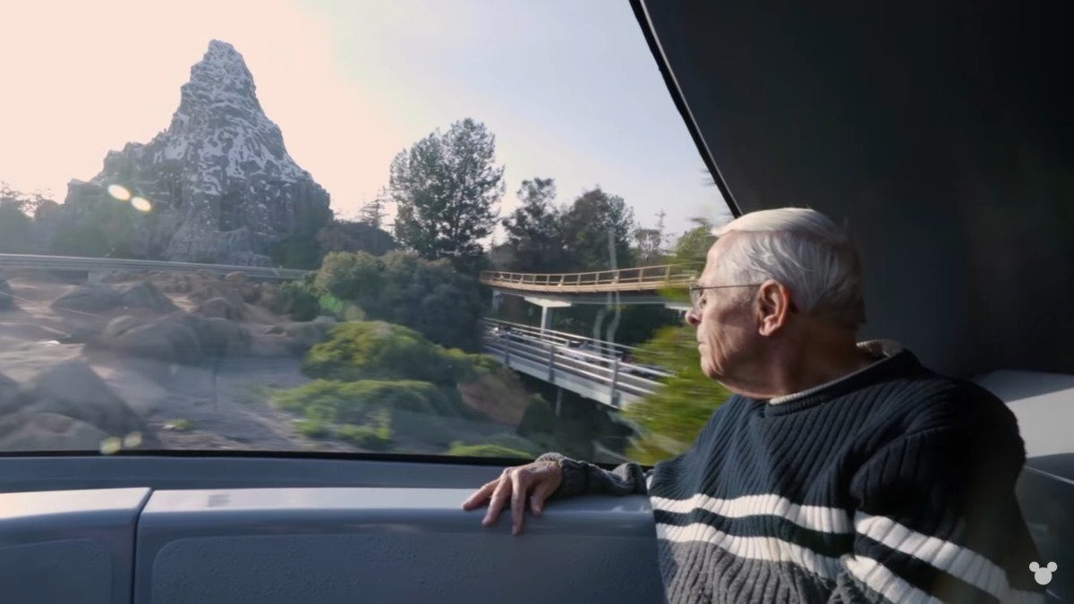 bob gurr rides the monrail to the materhorn in the imagineering story