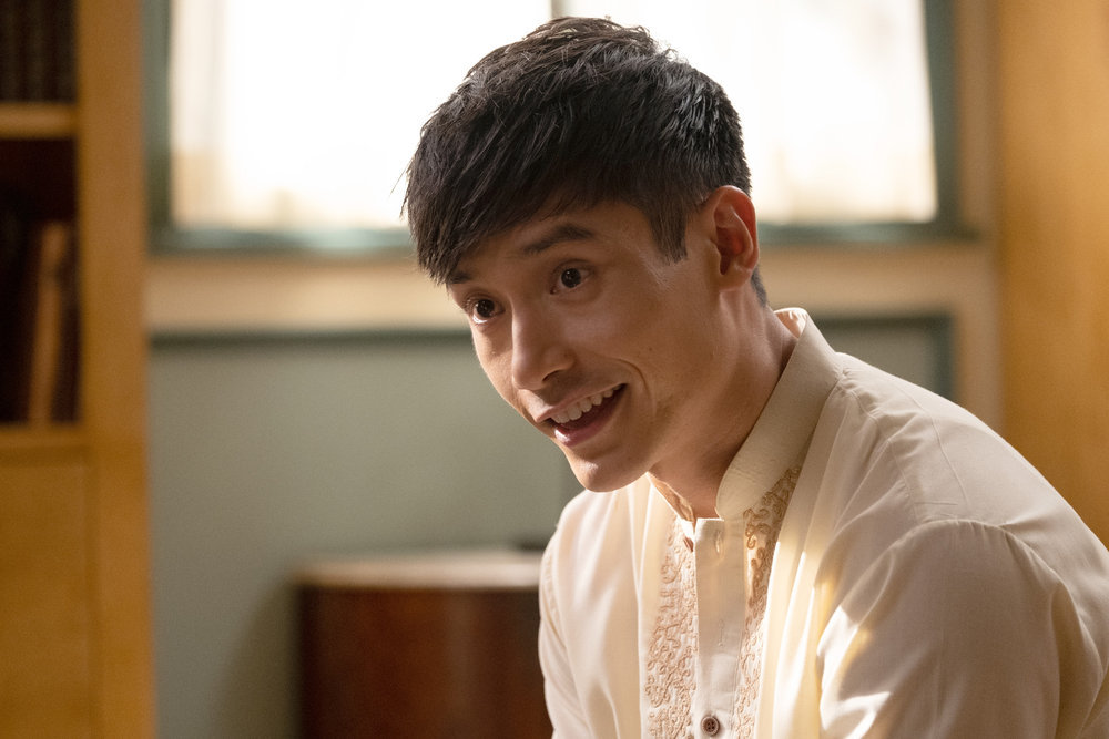 """THE GOOD PLACE -- """"A Chip Driver Mystery"""" Episode 406 -- Pictured: Manny Jacinto as Jason -- (Photo by: Colleen Hayes/NBC)"""