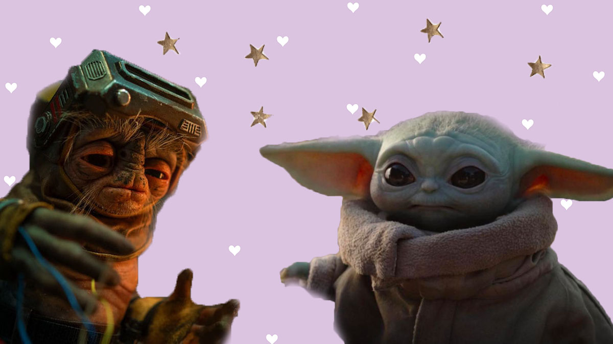 Babu Frik and Baby Yoda