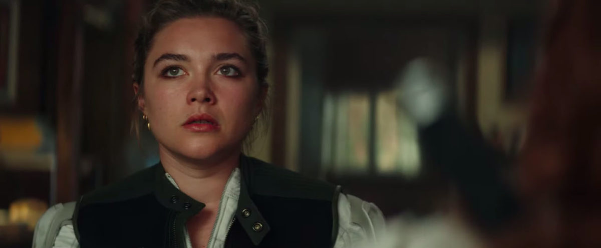 Florence Pugh in the Black Widow trailer