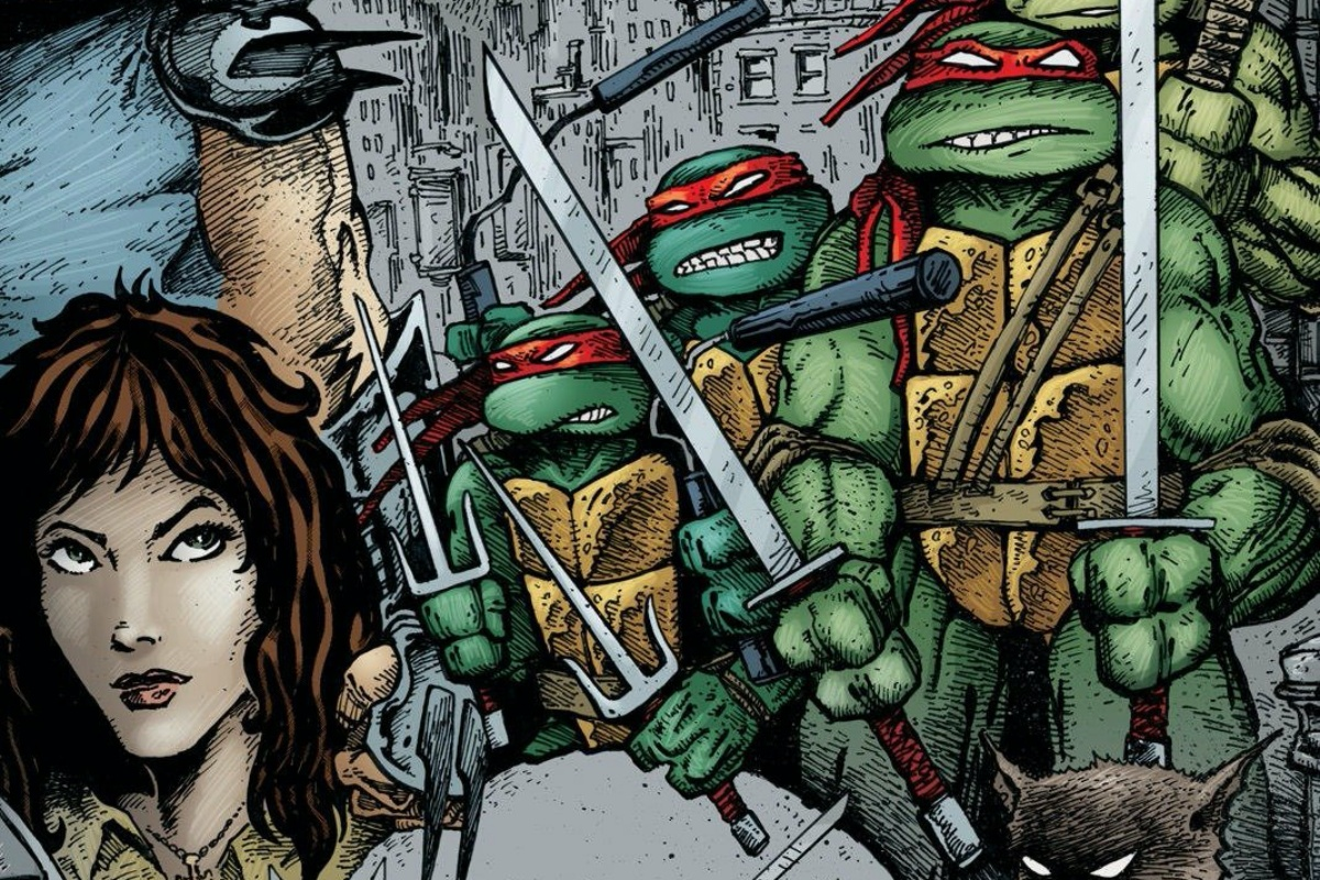 The original teenage mutant ninja turtles when they all had the same bandana