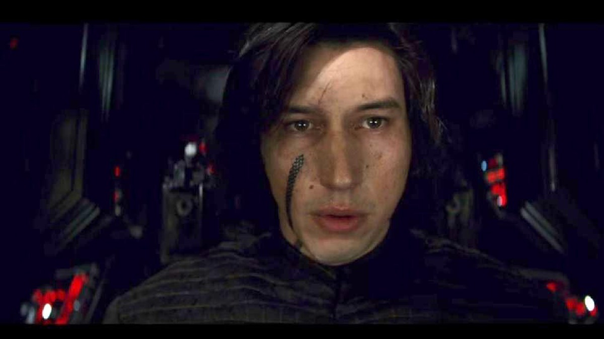 Kylo Ren in Star Wars: The Last Jedi.