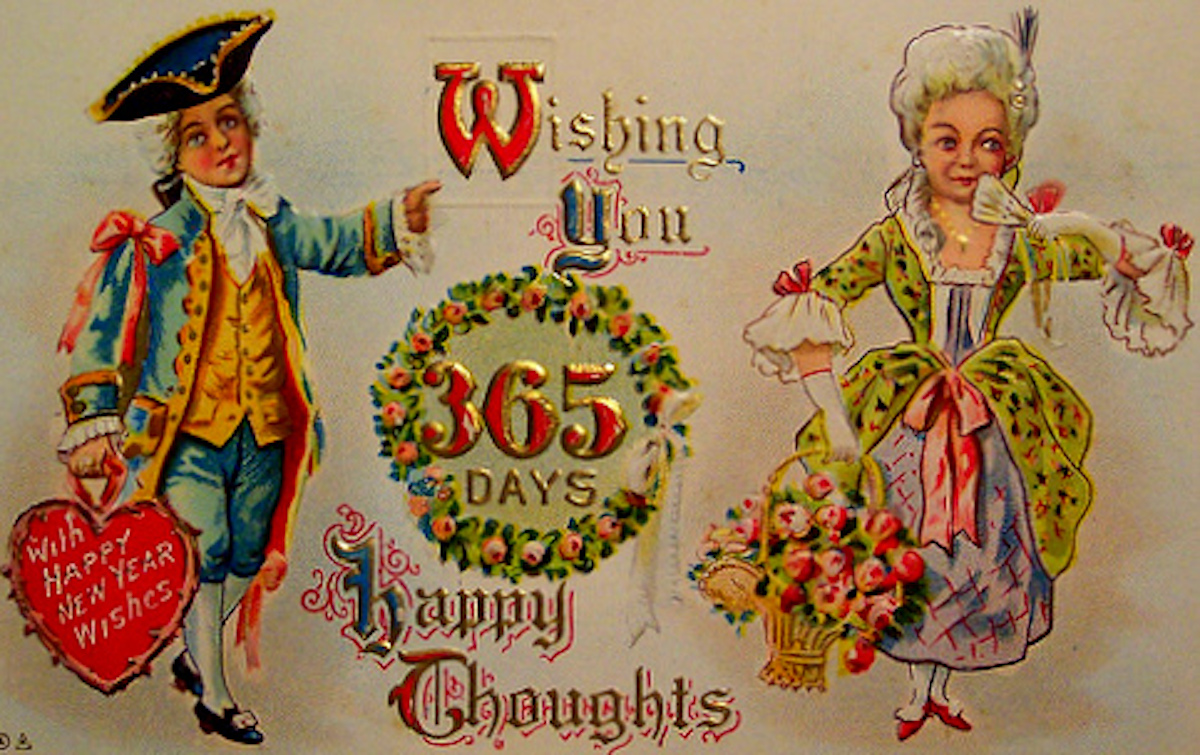 Happy New Year historical card