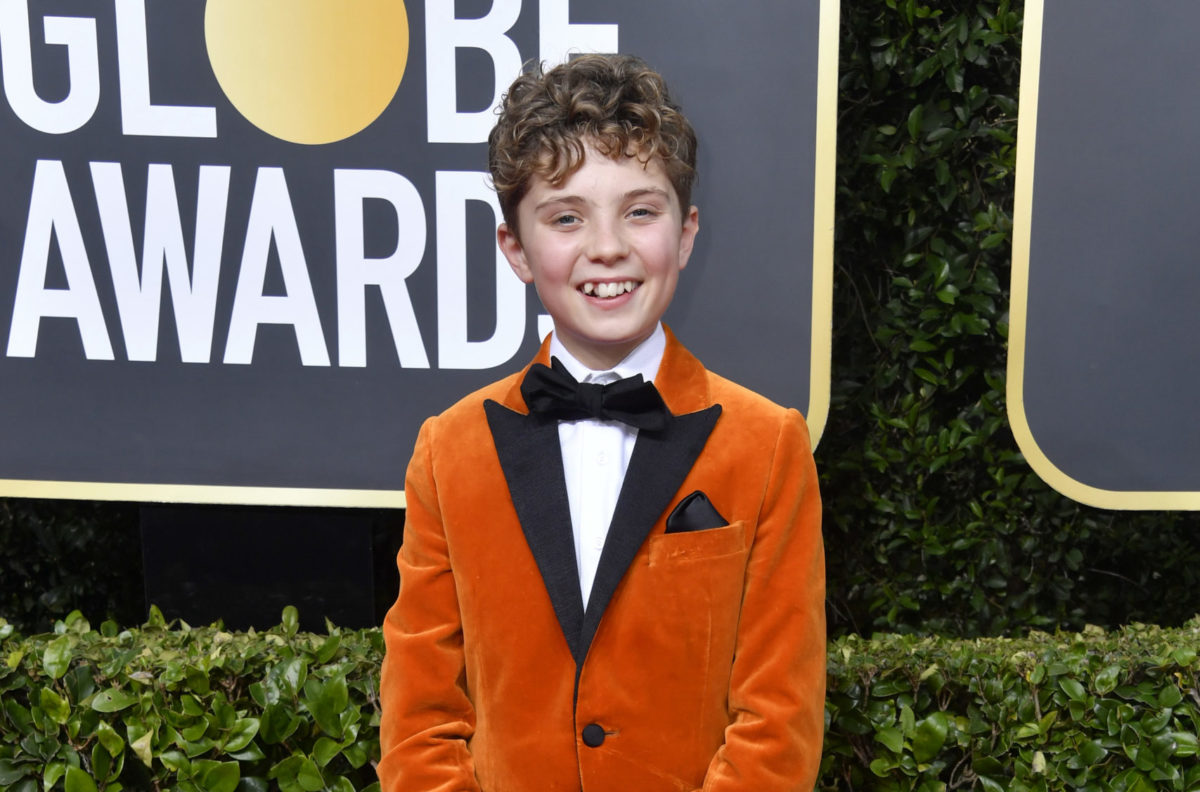 Roman Griffin Davis at the Golden Globes