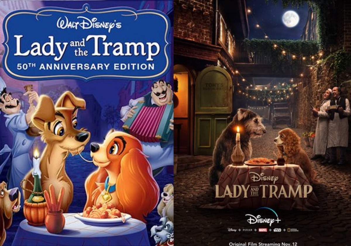 Disney's Lady and the Tramp posters.