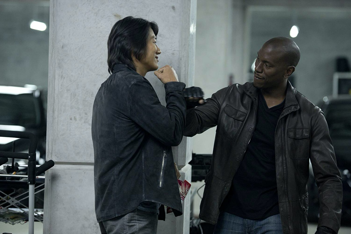 Sung Kang and Tyrese Gibson in Furious 6 (2013)