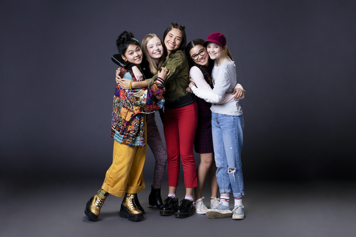 Baby-Sitters Club group cast photo