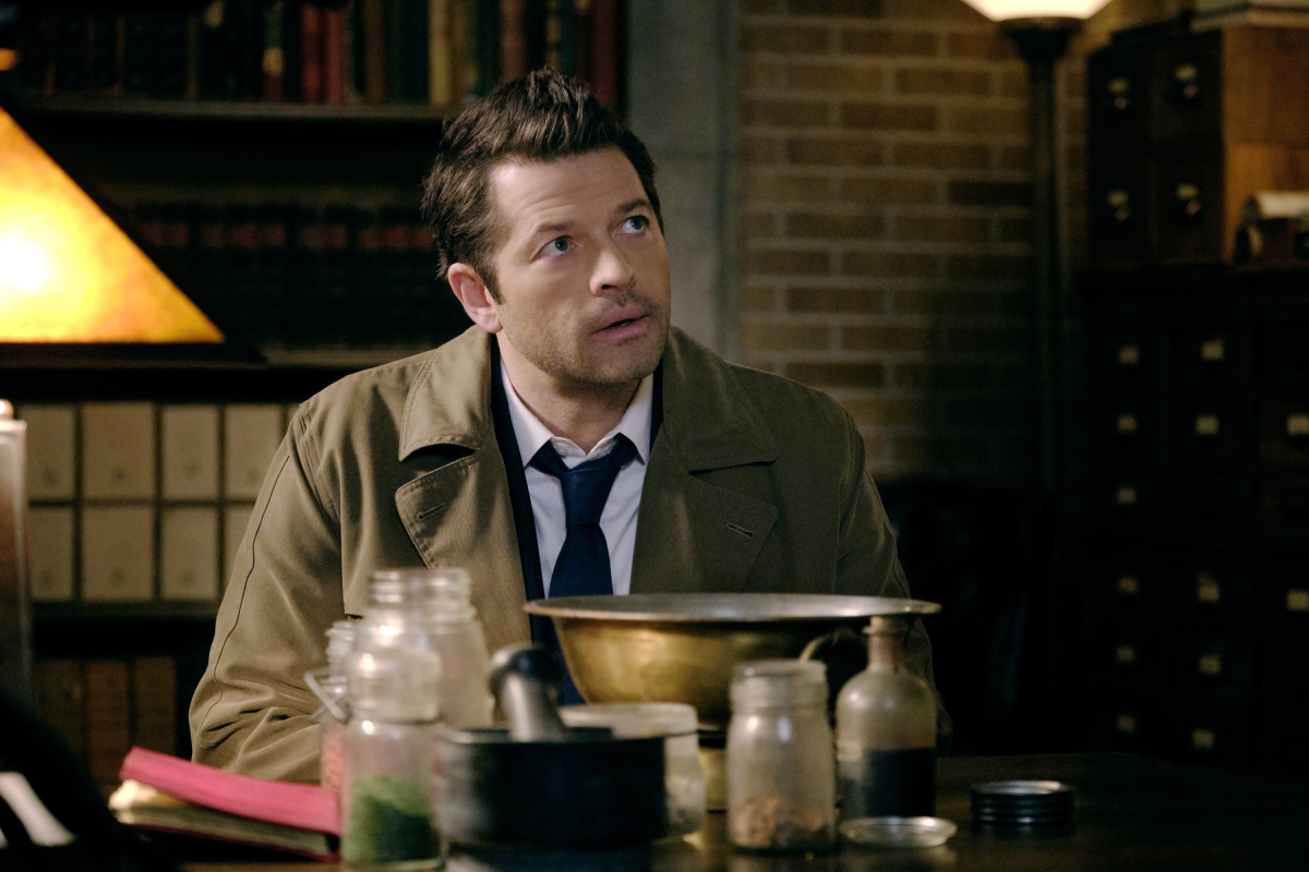 "Supernatural -- ""Destiny's Child"" -- Image Number: SN1513a_0066b.jpg -- Pictured: Misha Collins as Castiel -- Photo: Jeff Weddell/The CW -- © 2020 The CW Network, LLC. All Rights Reserved."
