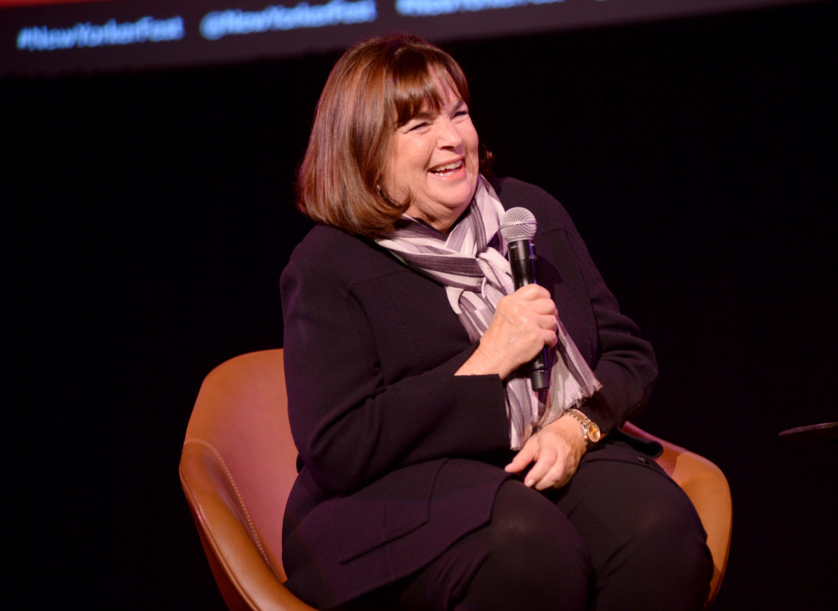 NEW YORK, NEW YORK - OCTOBER 12: Ina Garten speaks onstage during a talk with Helen Rosner at the 2019 New Yorker Festival on October 12, 2019 in New York City. (Photo by Brad Barket/Getty Images for The New Yorker)
