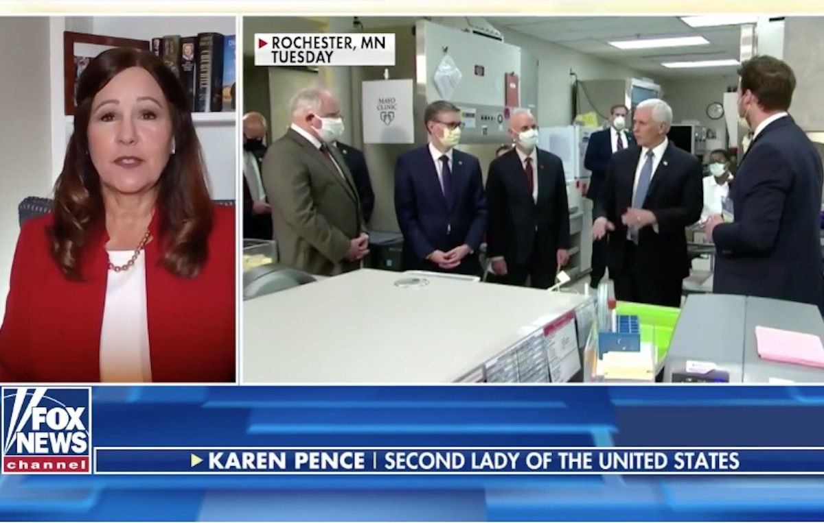 Karen Pence: VP Was Unaware of Mayo Clinic Mask Policy Before Visit