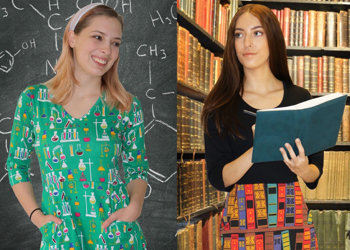 Women's science and literature inspired dresses by Svaha
