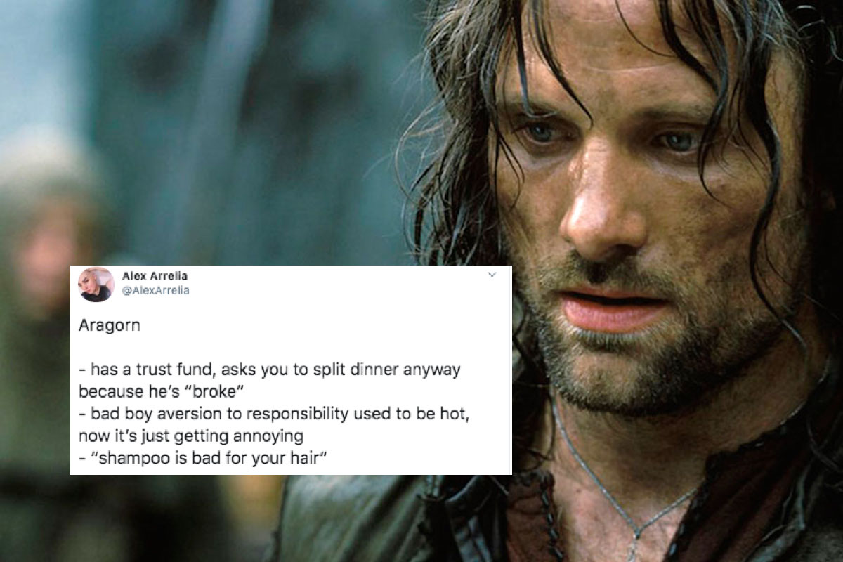 Bad Ex-Boyfriends of Middle-Earth hilarious twitter thread