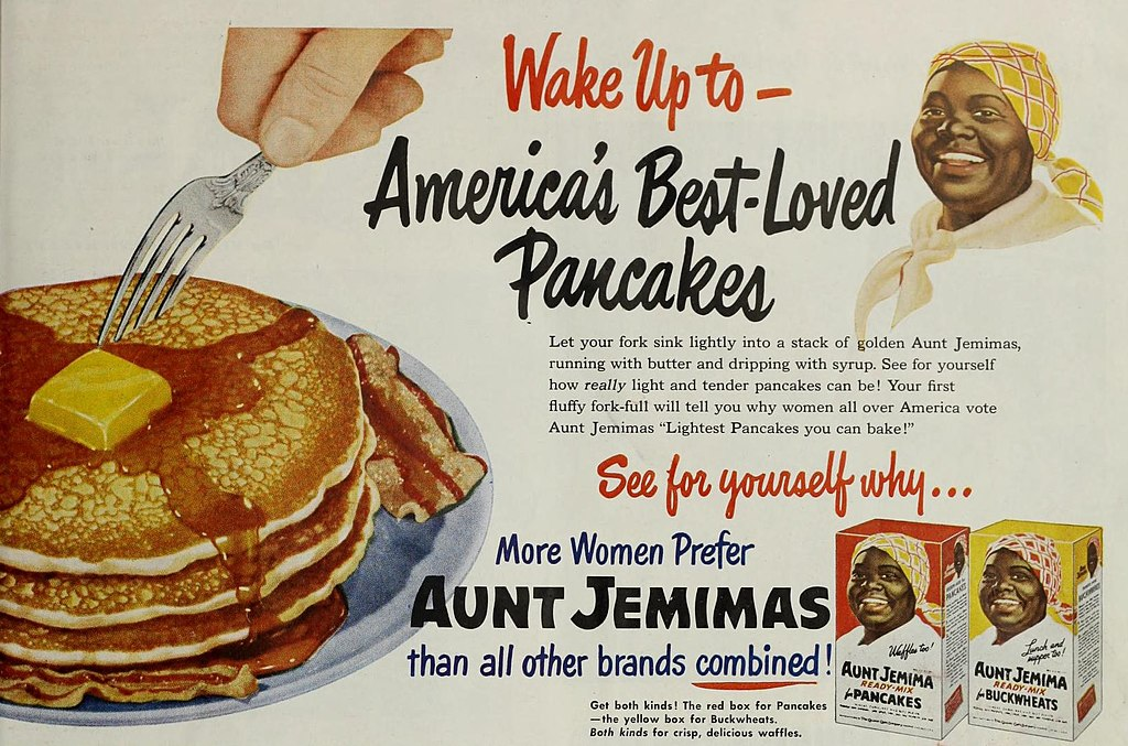 racist aunt jemima pancake ad from 1951