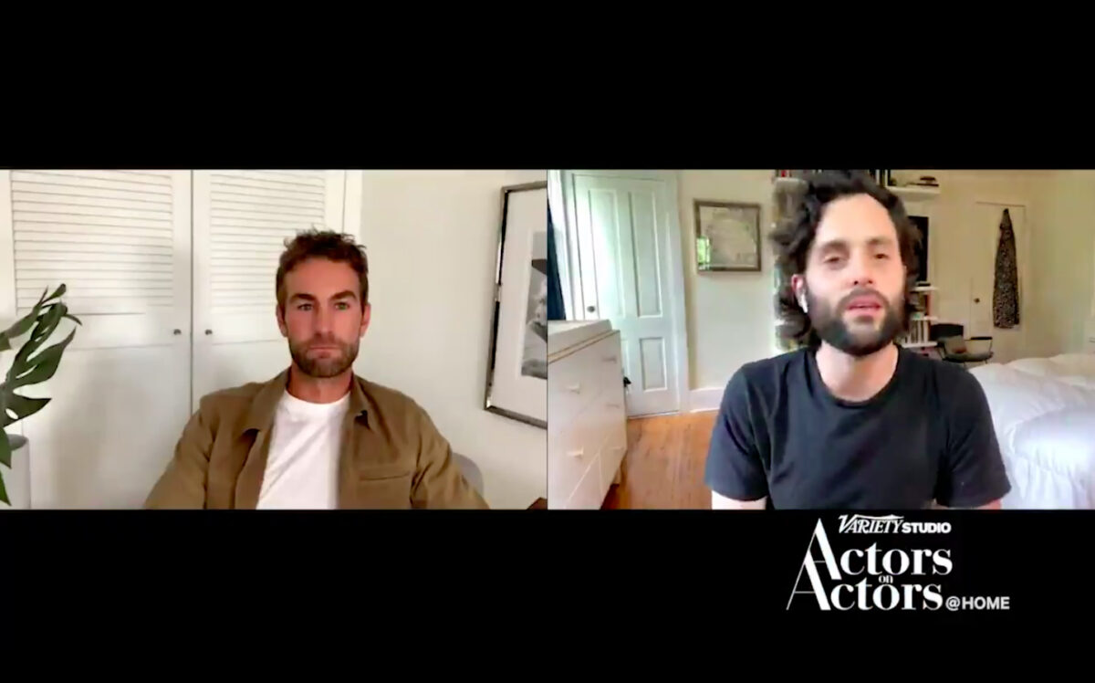 Chace Crawford and Penn Badgley talking acting