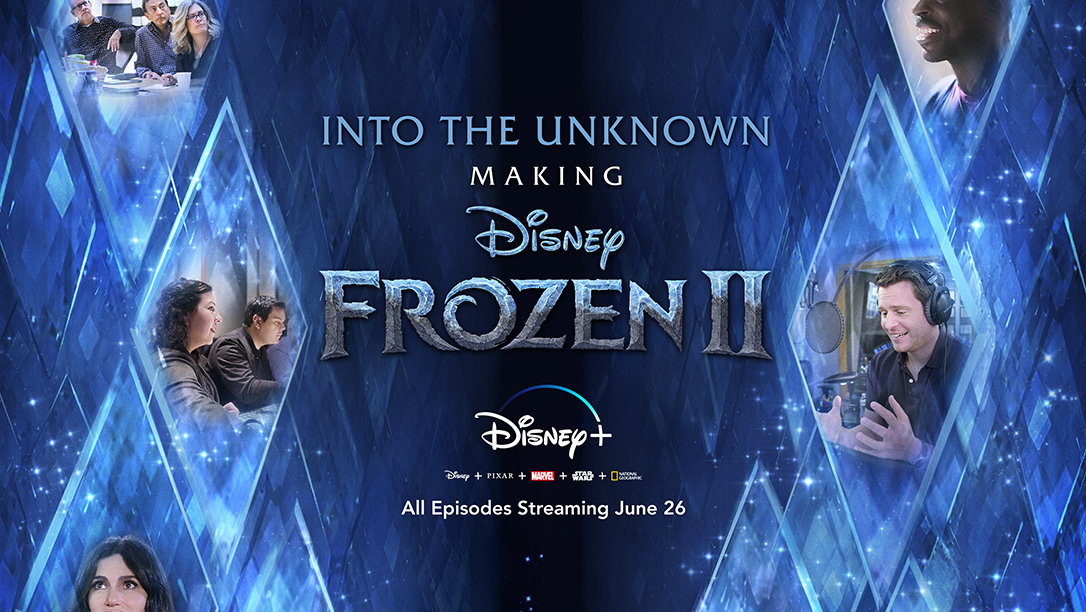 logo and key art for into the unknown: the making of frozen 2