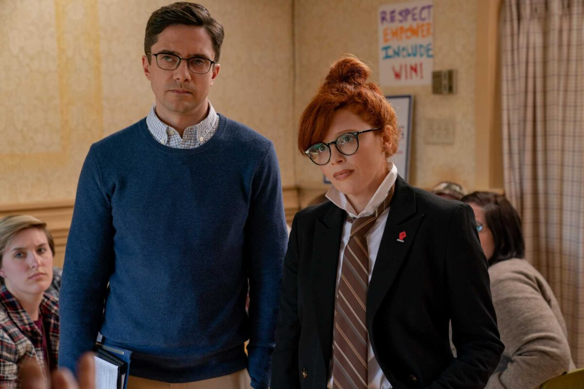 Topher Grace and Natasha Lyonne in Irresistible