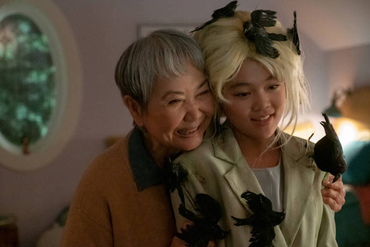 Claudia Kishi and grandmother Mimi in 'The Babysitters Club'