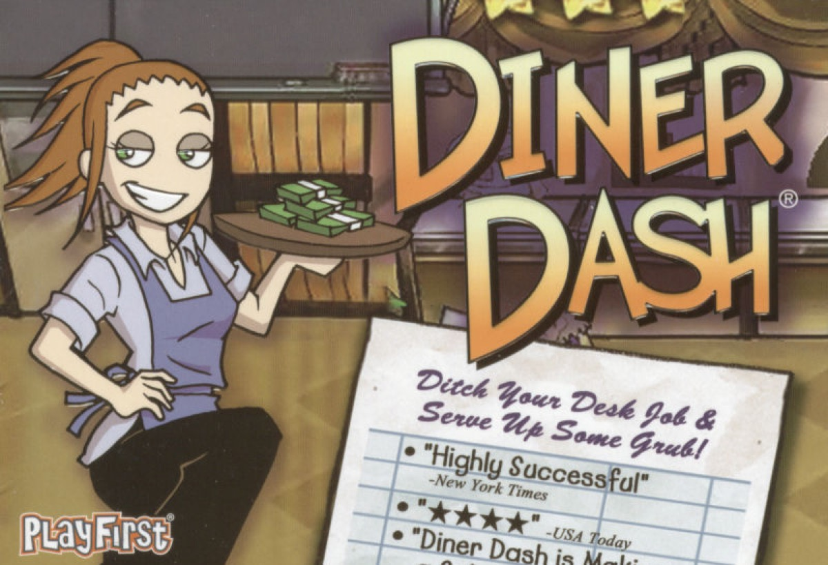 Diner Dash for Windows game box art.