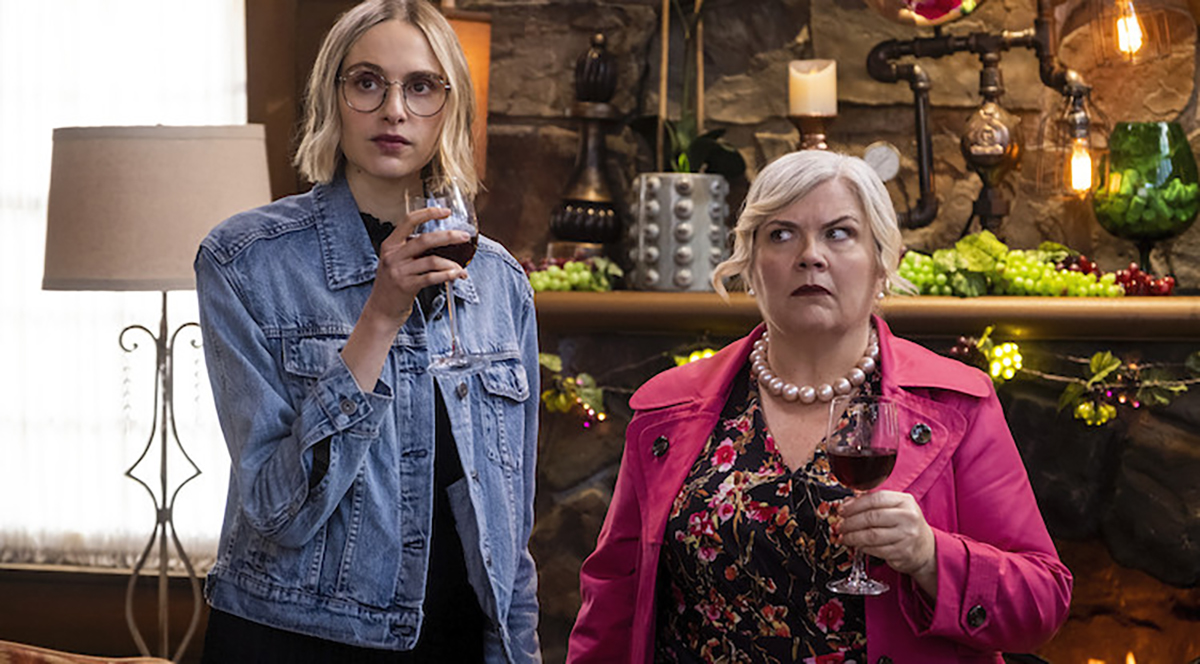 Paula Pell and Hayley Magnus in Maplewood Murders