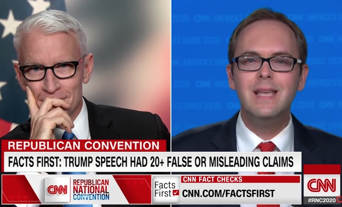CNN's Daniel Dale appears on Anderson Cooper's show to fact-check Donald Trump's RNC speech.