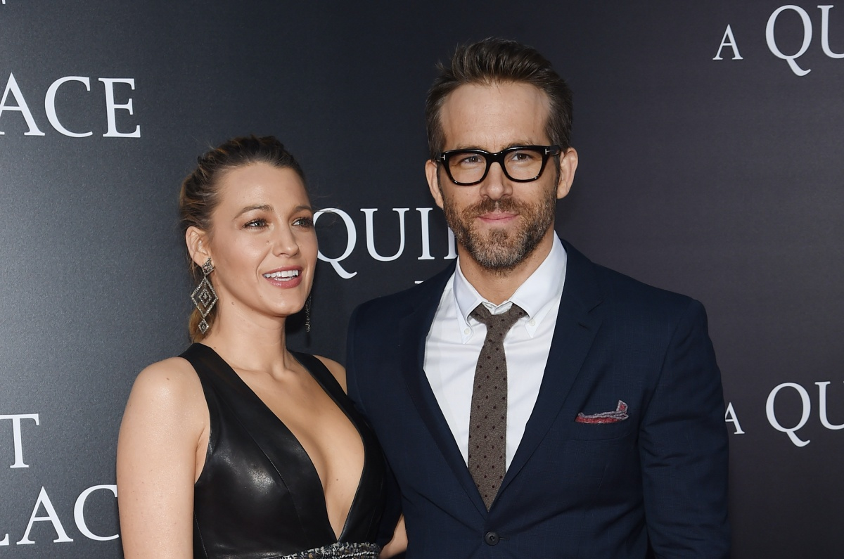 "Blake Lively and Ryan Reynolds attend the premiere for ""A Quiet Place"" at AMC Lincoln Square Theater on April 2, 2018 in New York City. (Photo by Jamie McCarthy/Getty Images)"