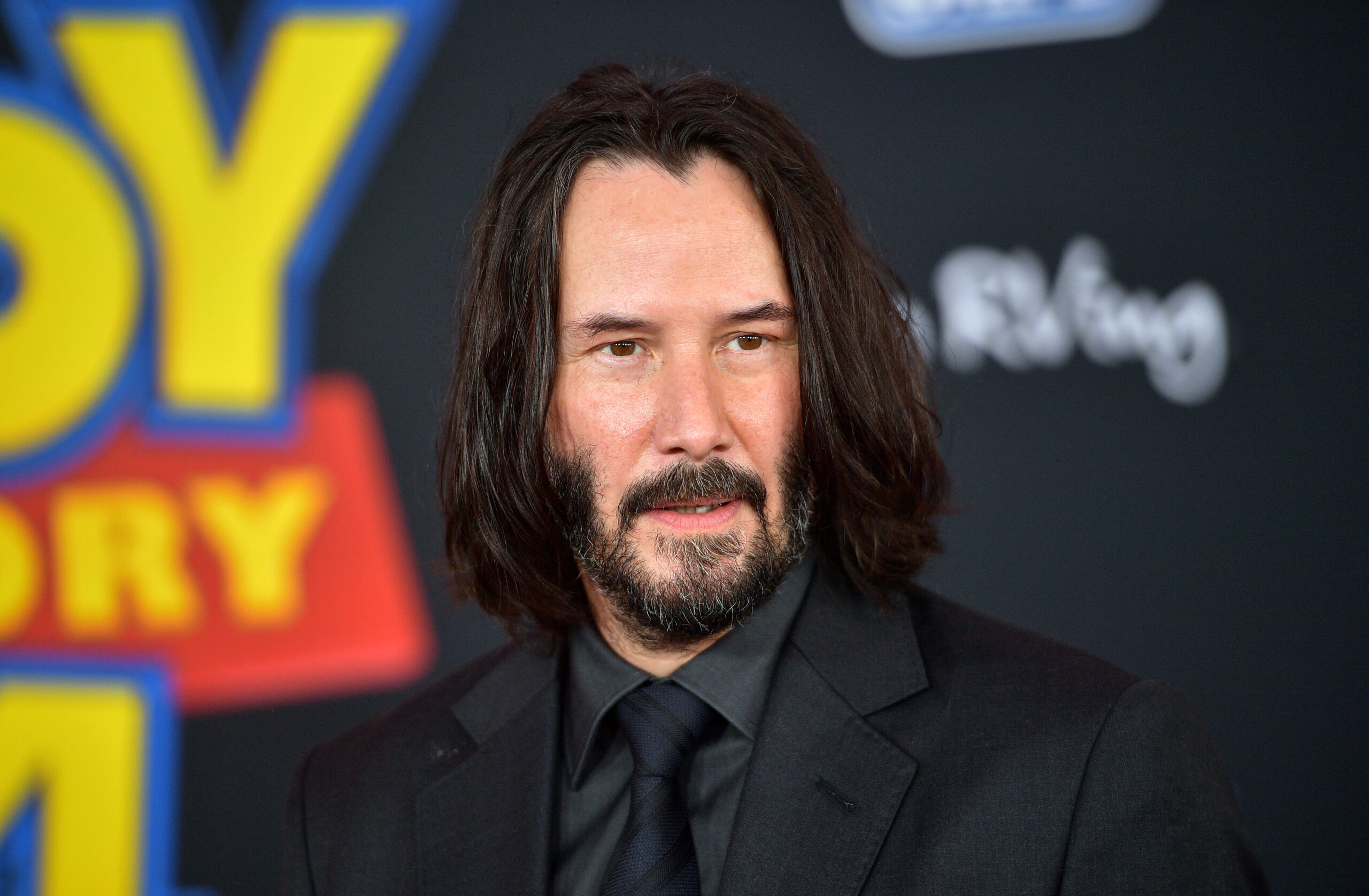 "LOS ANGELES, CALIFORNIA - JUNE 11: Keanu Reeves attends the premiere of Disney and Pixar's ""Toy Story 4"" on June 11, 2019 in Los Angeles, California. (Photo by Matt Winkelmeyer/Getty Images)"