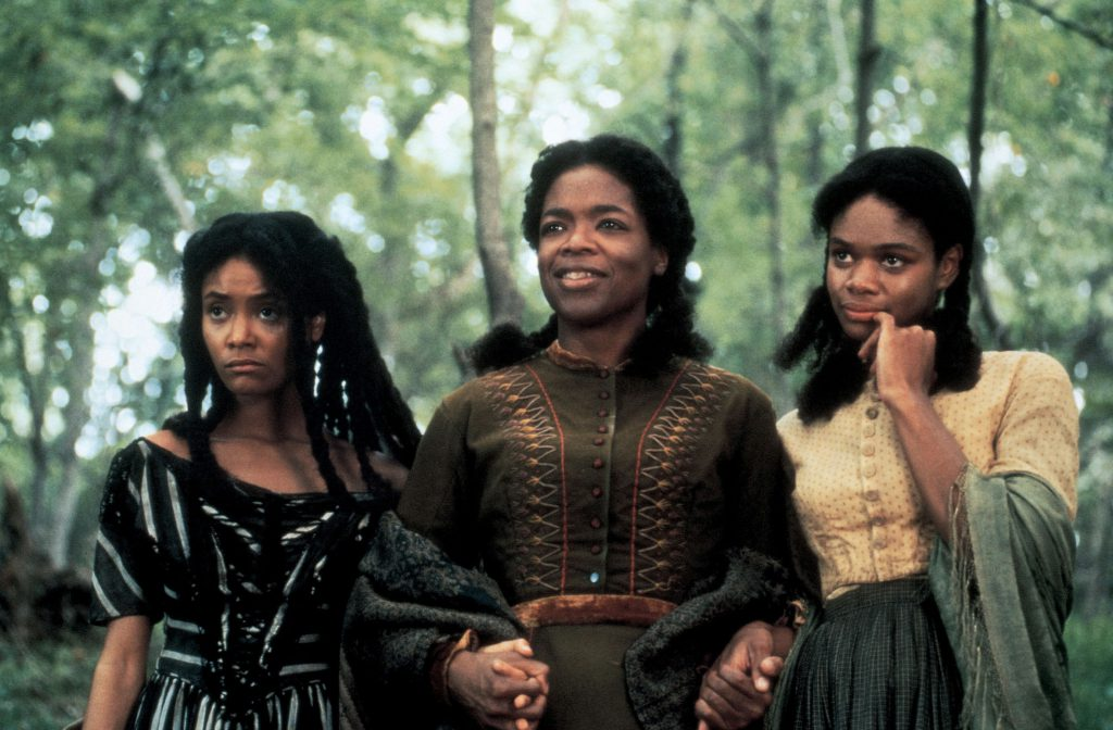 Still from the 1998 Film Beloved Starring Oprah Winfrey, Thandie Newton, and Kimberly Elise