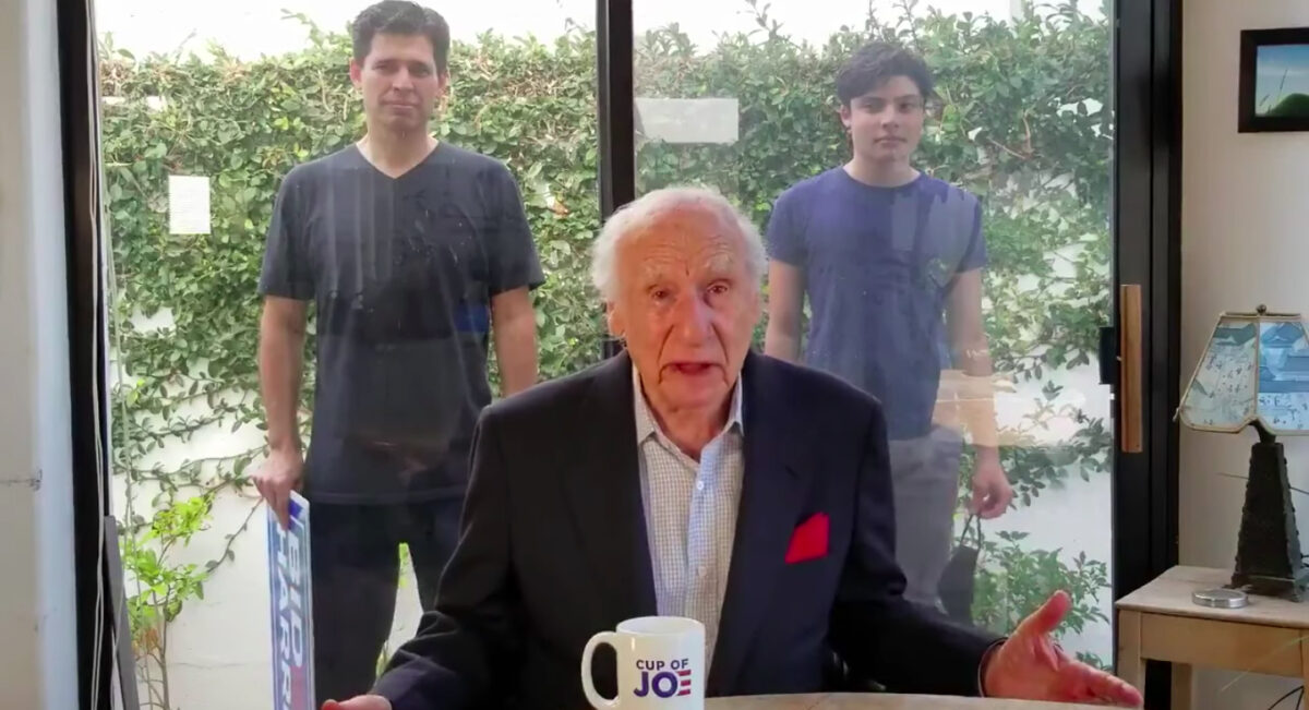Mel Brooks shares video in support of Joe Biden on social media