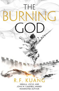 Book cover for The Burning God by R.F. Kuang