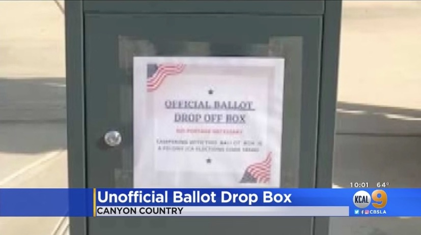 An unofficial drop box in southern California.