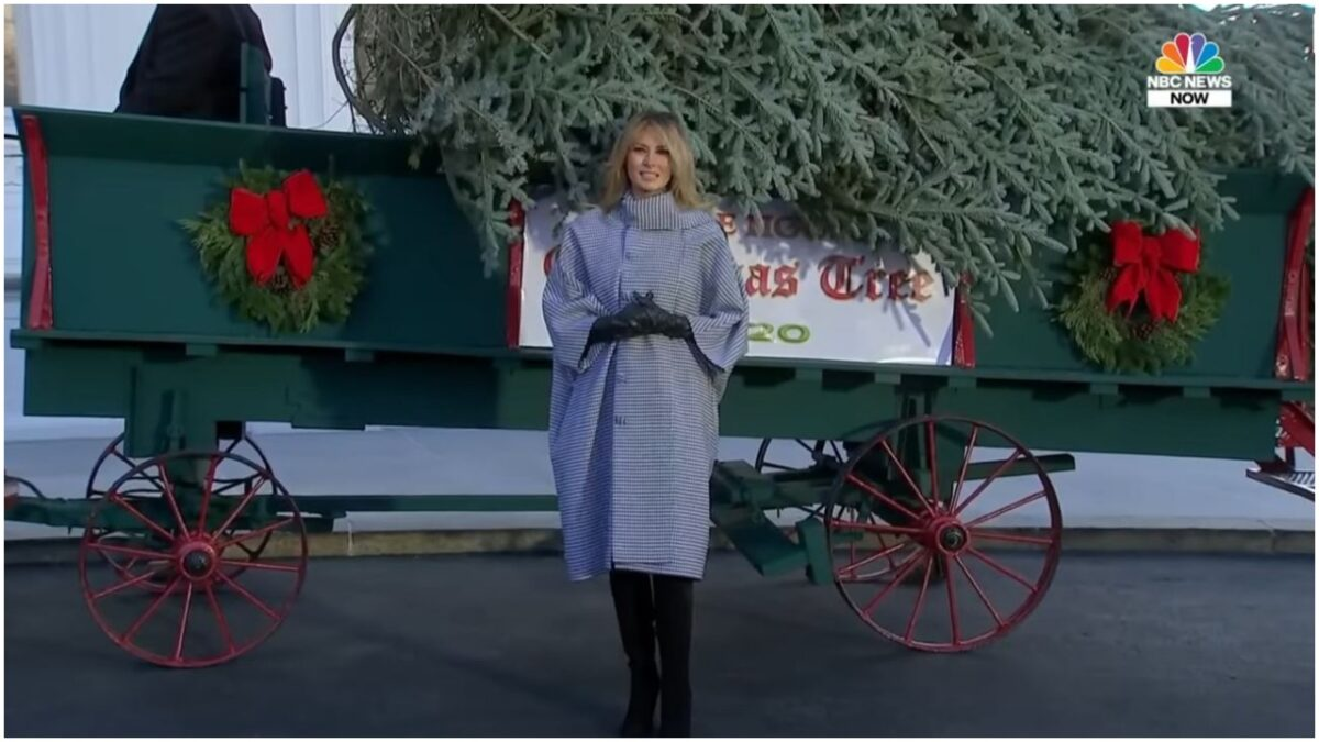 Melania Trump Welcomes Christmas Tree at White House