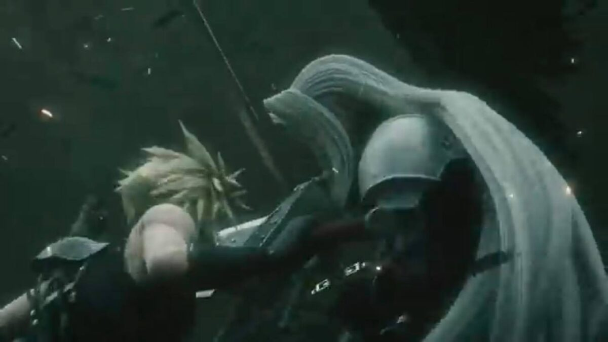Image of Sephiroth fight Cloud from Smash Brothers Ultimate
