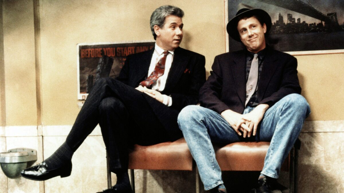 John Larroquette and Harry Anderson in Night court BABY