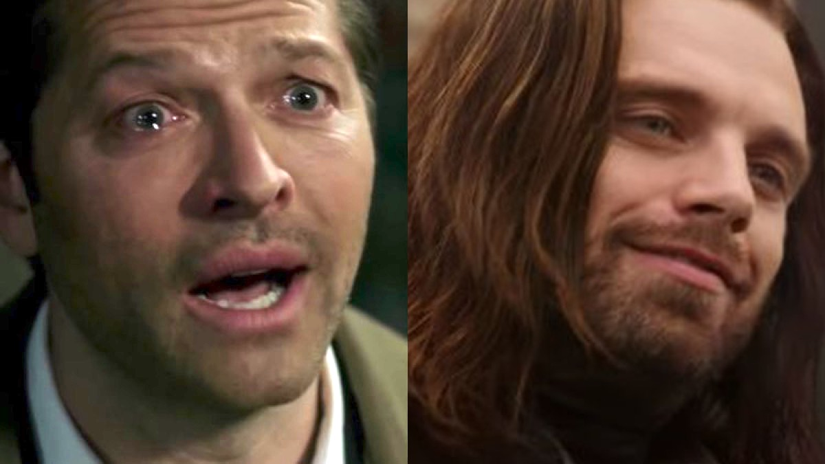Castiel confessing his love for Dean in The CW's Supernatural, and Bucky gazing upon Steve lovingly in Marvel's Avengers: Infinity War.
