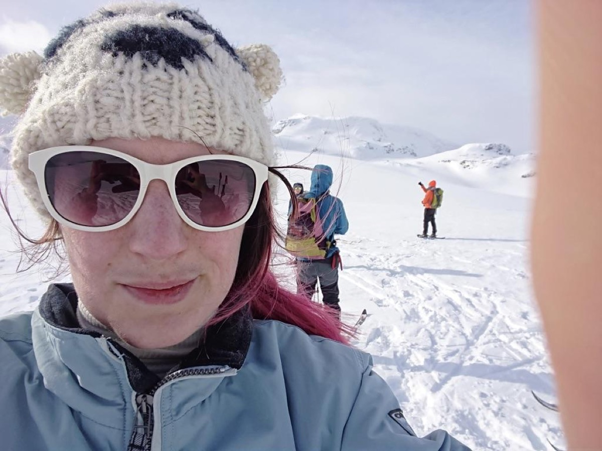 Rebecca Harrison and other Star Wars fans on the glacier in Finse, Norway where Star Wars: The Empire Strikes Back's Hoth scenes were filmed.