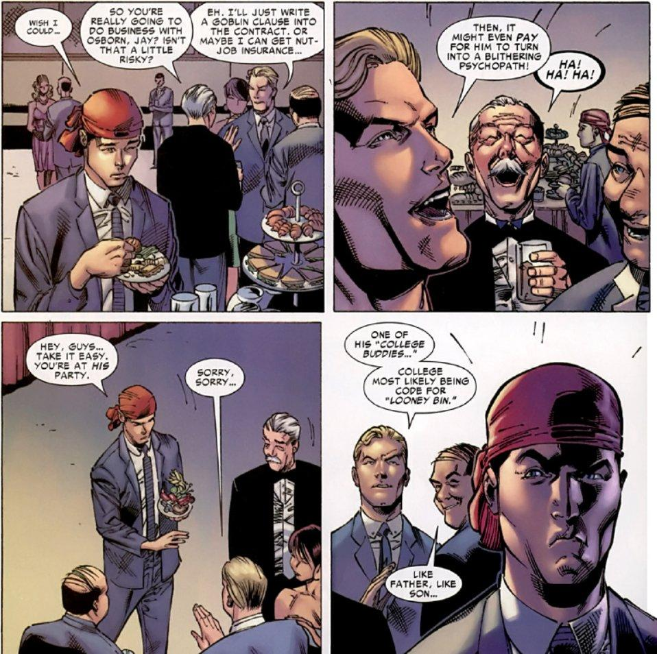Jerks insult Harry Osborn over his mental health in Spider-Man comics.