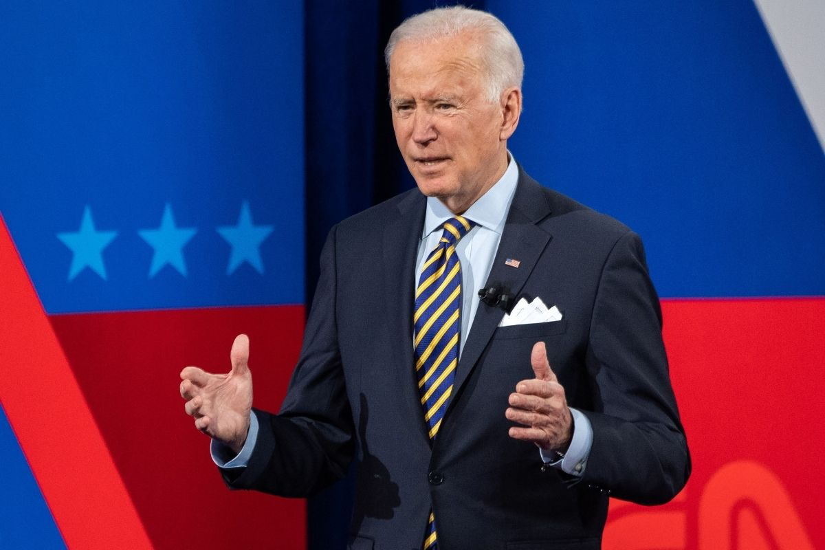 President Joe Biden at town hall in Pabst Theater in Milwaukee Wisconsin
