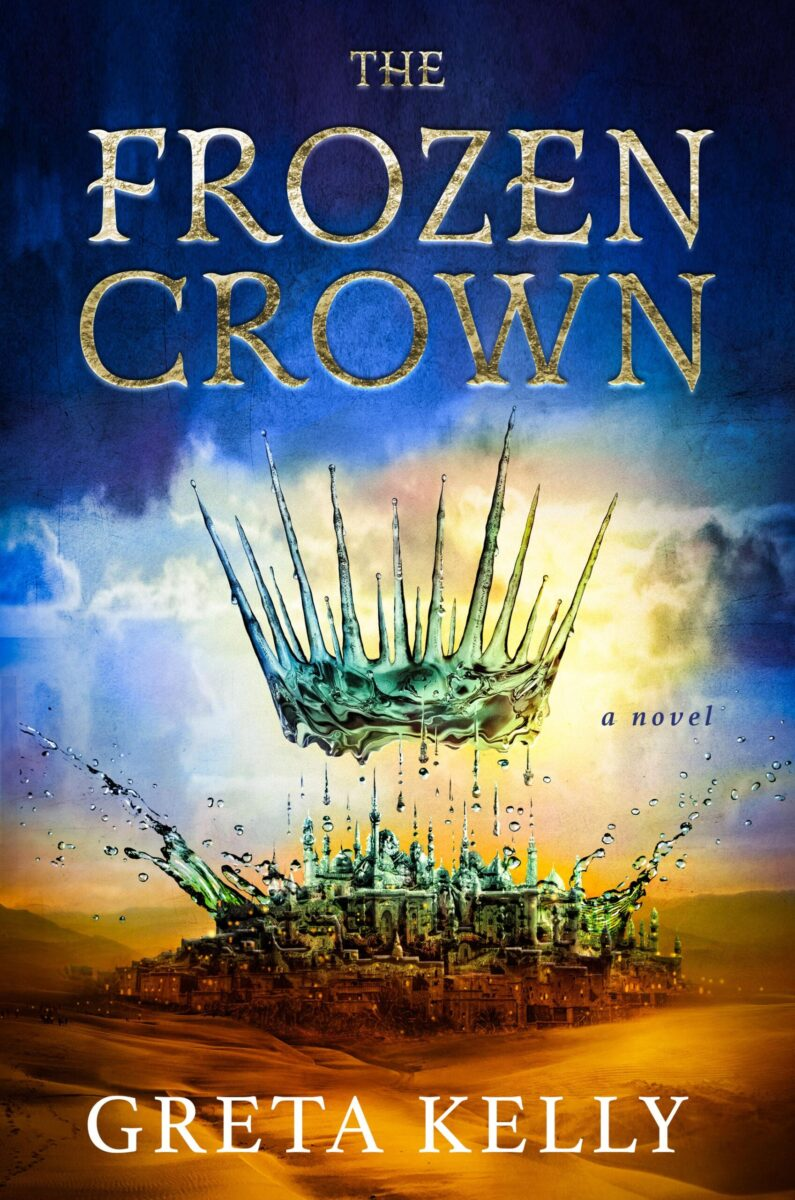 Book cover for The Frozen Crown by Greta Kelly