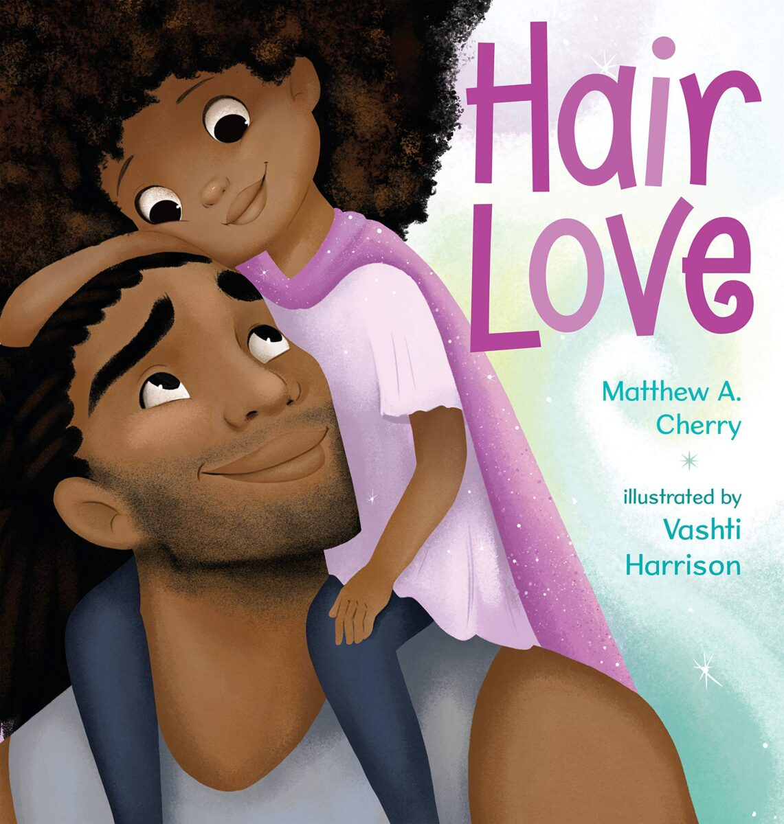 Book cover for Hair Love by Matthew A. Cherry