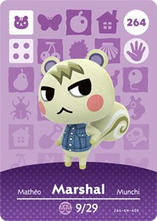 Amiibo card of Marshal