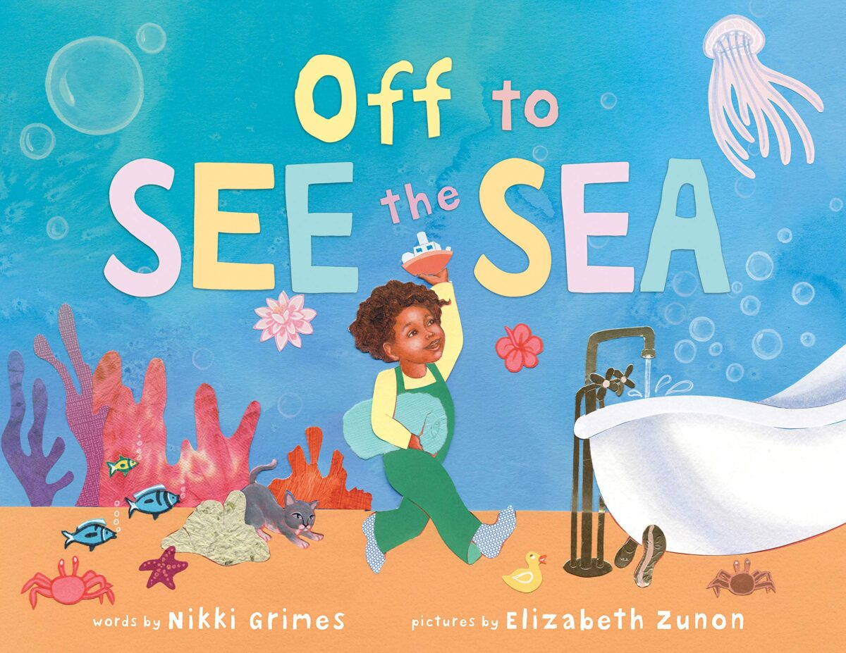 Book cover for Off To See The Sea by Nikki Grimes