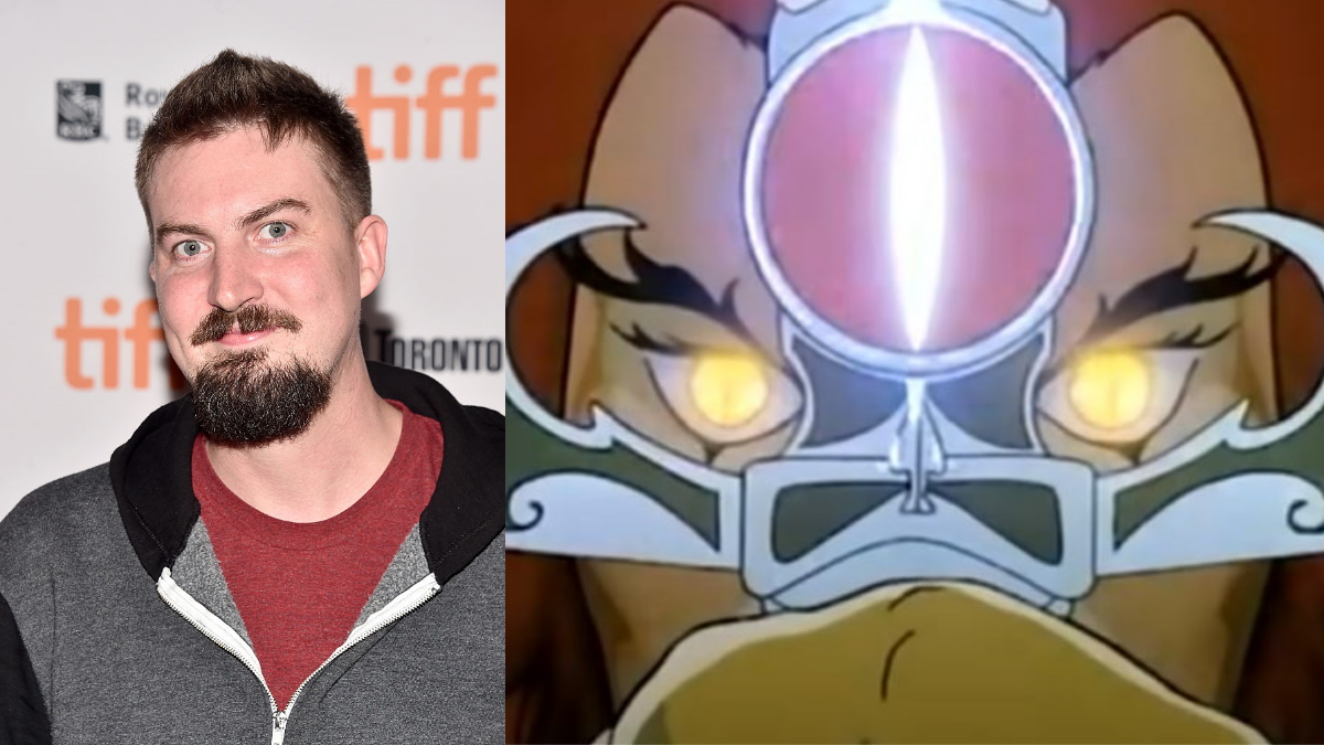 Adam Wingard with Lion-O